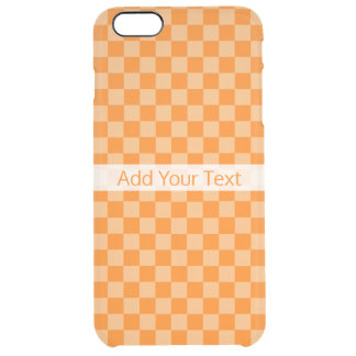 Orange Combination Checkerboard by ShirleyTaylor Clear iPhone 6 Plus Case