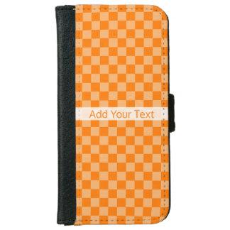 Orange Combination Checkerboard by ShirleyTaylor iPhone 6 Wallet Case