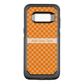 Orange Combination  Checkerboard by ShirleyTaylor OtterBox Commuter Samsung Galaxy S8 Case