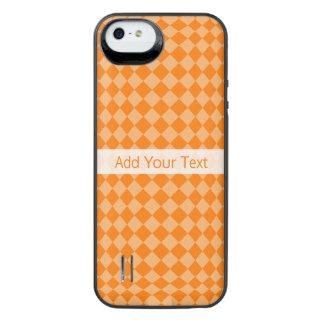 Orange Combination Diamond Pattern by STaylor iPhone SE/5/5s Battery Case