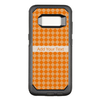 Orange Combination Diamond Pattern by STaylor OtterBox Commuter Samsung Galaxy S8 Case
