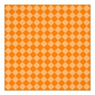 Orange Combination Diamond Pattern Photographic Print
