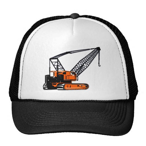 Orange Construction Crane Hats