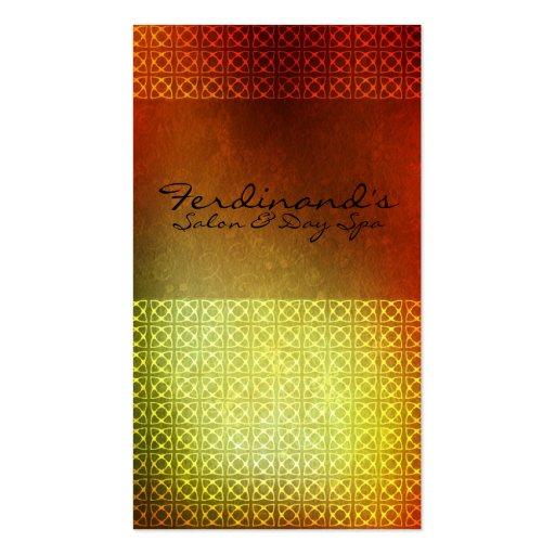 Orange Contemporary Salon & Sp Business Card Template
