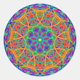 Orange Contrast Mandala Sticker