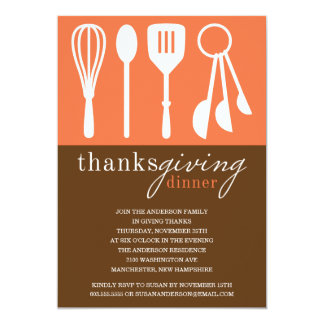 ORANGE COOKING | THANKSGIVING DINNER INVITE
