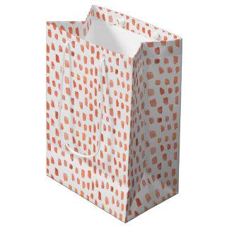 Orange Coral Dashes Medium Gift Bag
