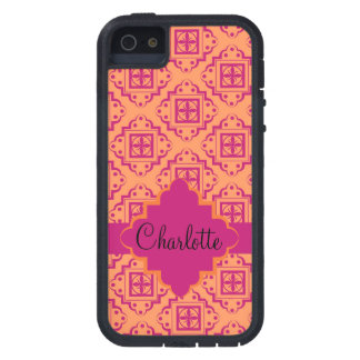 Orange Coral & Magenta Arabesque Moroccan Graphic Case For iPhone 5