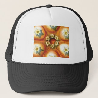 orange core art trucker hat