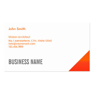 Orange Corner System Architect Business Card