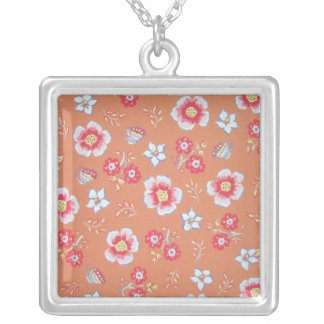 Orange Country Flowers Necklace