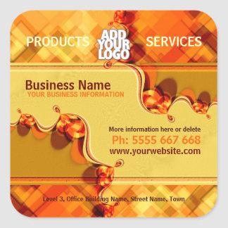 Orange Country Square w/ Logo Business Sticker