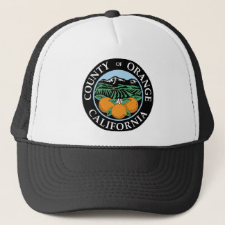 Orange county seal trucker hat