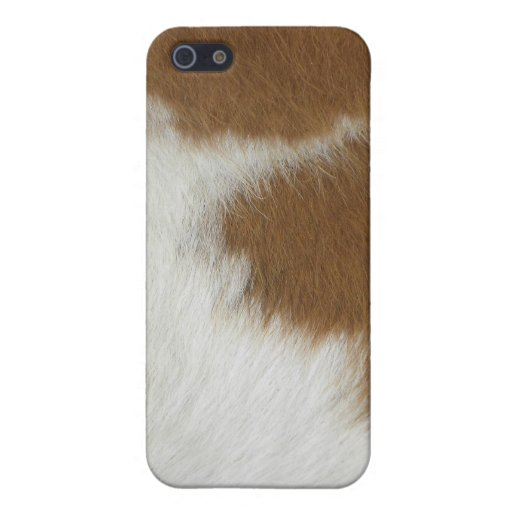 Orange cow hide cover for iPhone 5