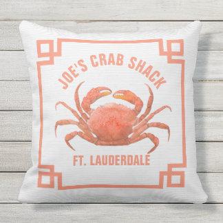Orange Crab Watercolors Illustration Outdoor Cushion