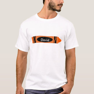 Orange Crayon Customizable T-Shirt