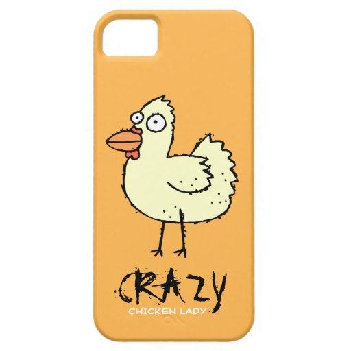Orange Crazy Chicken Lady Cartoon Hen iPhone 5 Cases