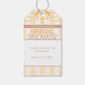 Orange Cream Brown Bridal Shower Favor Tags