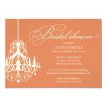 ORANGE & CREAM CHANDELIER | BRIDAL SHOWER INVITE 13 CM X 18 CM INVITATION CARD