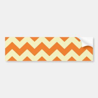 Orange Cream Citrus Chevron ZigZag Stripes Gifts Bumper Sticker