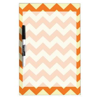 Orange Cream Citrus Chevron ZigZag Stripes Gifts Dry Erase Whiteboards