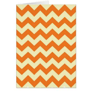 Orange Cream Citrus Chevron ZigZag Stripes Gifts Greeting Card