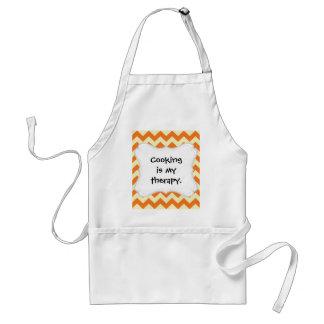 Orange Cream Citrus Chevron ZigZag Stripes Gifts Standard Apron