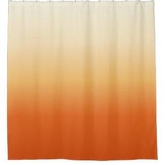 Orange Cream Gradient Shower Curtain