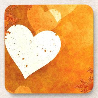 ORANGE CREAM HEATS LOVE DIGITAL BACKGROUNDS WALLPA BEVERAGE COASTERS