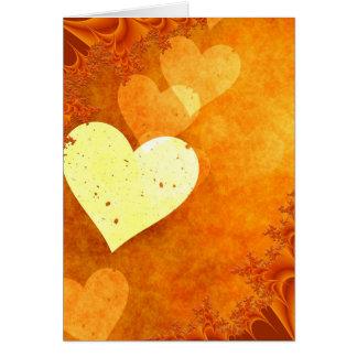 ORANGE CREAM HEATS LOVE DIGITAL BACKGROUNDS WALLPA GREETING CARD