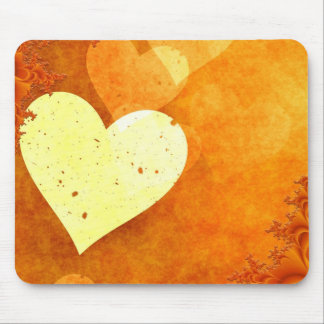 ORANGE CREAM HEATS LOVE DIGITAL BACKGROUNDS WALLPA MOUSE PAD