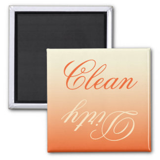 Orange Cream Ombre Dishwasher Clean/Dirty Magnet