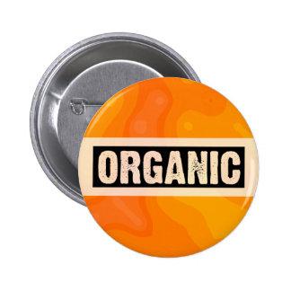 Orange Cream - Organic 6 Cm Round Badge