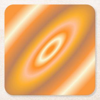Orange Cream Square Paper Coaster