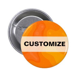 Orange Creme Pinback Buttons