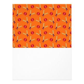 orange cricket pattern personalized flyer