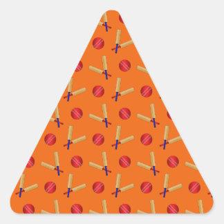 orange cricket pattern triangle sticker