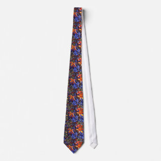 Orange Crocosmia flowers Tie