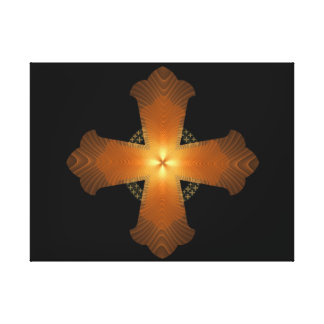 Orange Cross Stretched Canvas Prints