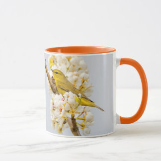 Orange-Crowned Warbler Amid the Cherry Blossoms Mug