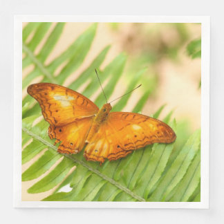Orange Cruiser Butterfly Disposable Napkin