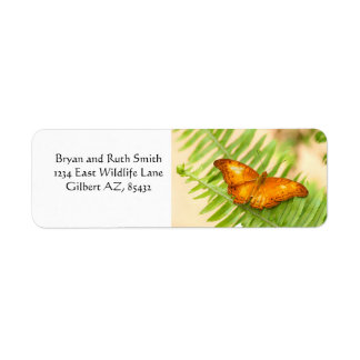 Orange Cruiser Butterfly Return Address Label