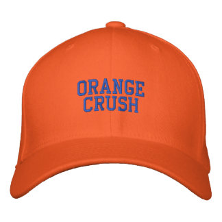 ORANGE CRUSH EMBROIDERED BASEBALL CAPS
