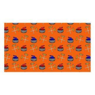 orange curling pattern pack of standard business cards