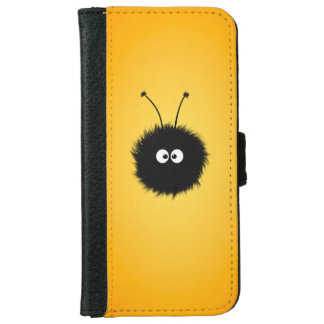 Orange Cute Fluffy Dazzled Bug iPhone 6 Wallet Case