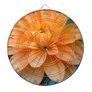 Orange Dahlia Dartboard