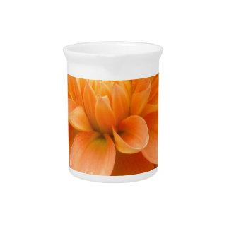 Orange Dahlia Pitcher