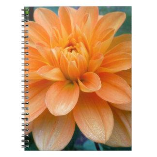 Orange Dahlia Spiral Notebook