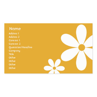 Orange Daisies - Business Pack Of Standard Business Cards