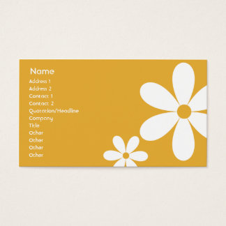 Orange Daisies - Business Business Card